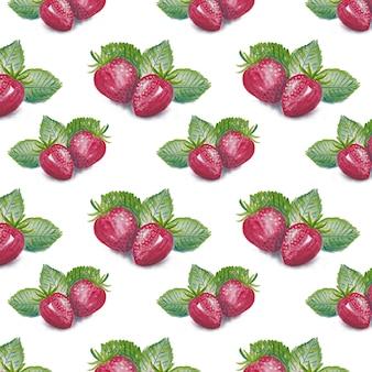 Fondo con patrón de fresas