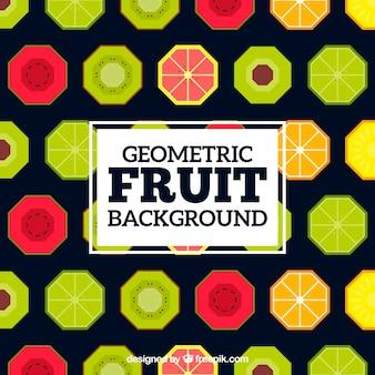 Fondo con patrón de frutas geométricas