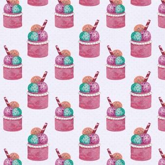 Fondo con patrón de helado