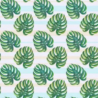 Fondo con patrón de hojas de palmera