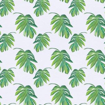 Fondo con patrón de hojas verdes