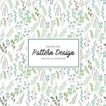 Fondo con patrón de hojas