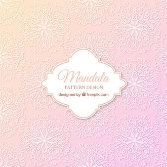 Fondo con patrón de mandala rosa