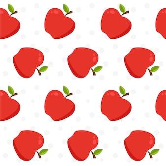 Fondo con patrón de manzanas