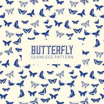 Fondo con patrón de mariposas