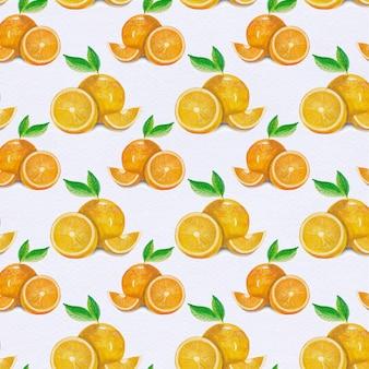 Fondo con patrón de naranjas