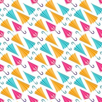 Fondo con patrón de paraguas multicolor