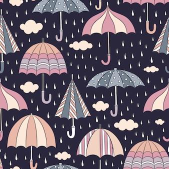 Fondo con patrón de paraguas