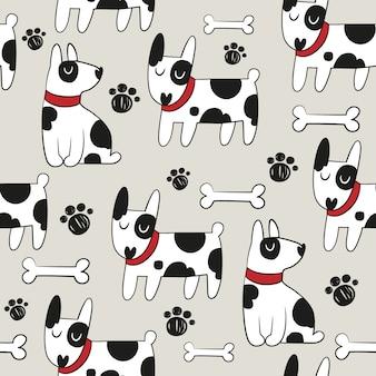 Fondo con patrón de perro