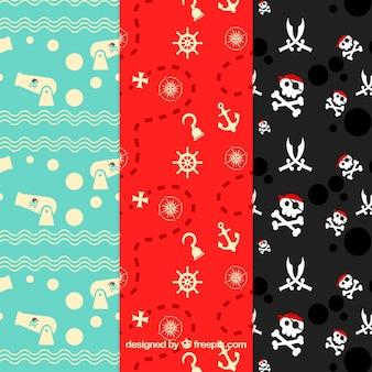 Fondo con patrón de piratas