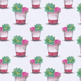 Fondo con patrón de plantas