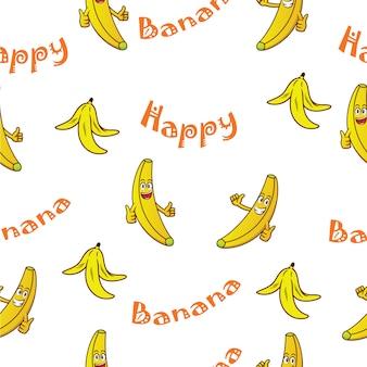 Fondo con patrón de plátanos