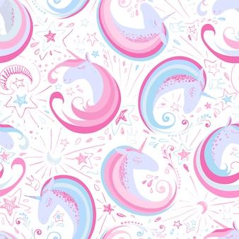 Fondo con patrón de unicornios