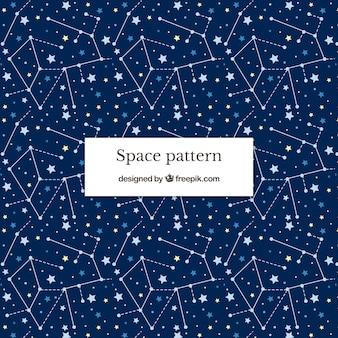 Fondo con patrón espacial