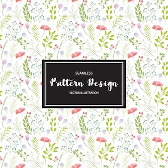 Fondo con patrón floral