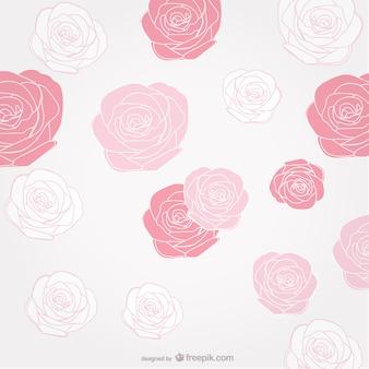 Fondo con rosas de tres colores