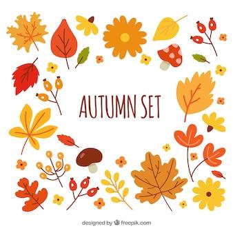 Fondo con set de otoño