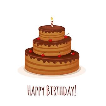 Fondo con tarta de cumpleaños
