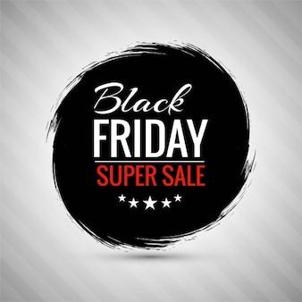 Fondo con un círculo de tinta negra para el viernes negro