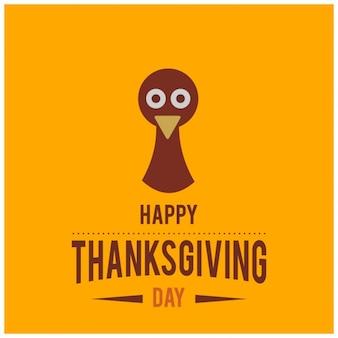 Fondo con un lindo pavo para el día de acción de gracias