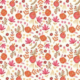 Fondo con un patrón floral