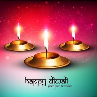 Fondo con velas encendidas para celebrar diwali