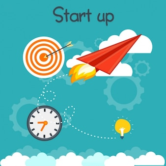 Fondo creativo con elementos de negocios