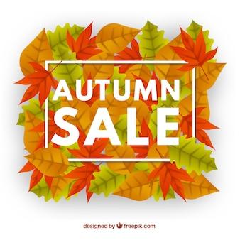 Fondo creativo de rebajas de otoño