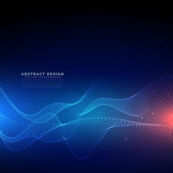 Fondo cyber de tecnología de partículas fluyendos