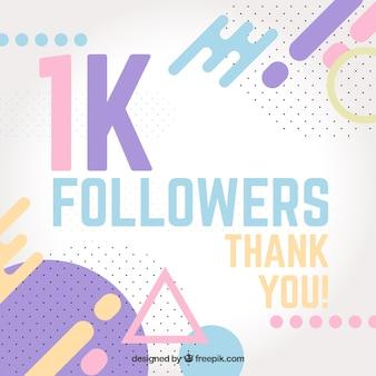 Fondo de 1k de seguidores