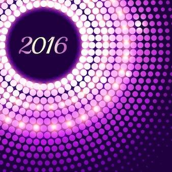 Fondo de 2016 morado y resplandeciente