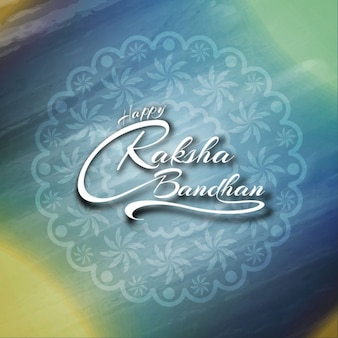 Fondo de acuarela de feliz raksha bandhan