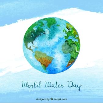 Fondo de acuarela del día mundial del agua