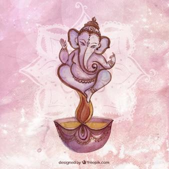 Fondo de acuarela Diwali