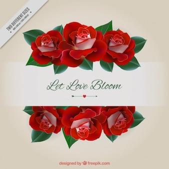 Fondo de amor de rosas realistas