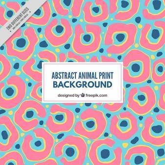 Fondo de animal de colores en estilo abstracto