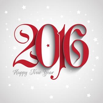 Fondo de año nuevo 2016 con números ornamentales