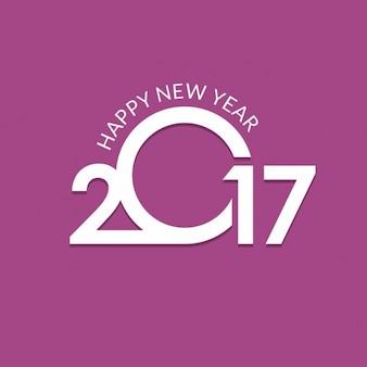 Fondo de año nuevo 2017, color púrpura