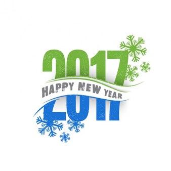 Fondo de año nuevo azul y verde