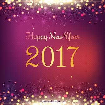 Fondo de año nuevo brillante en color morado