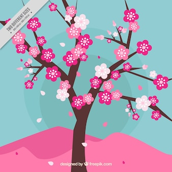 Fondo de árbol en flor