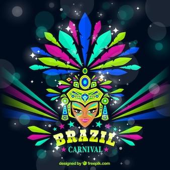Fondo de bailarina de carnaval brillante