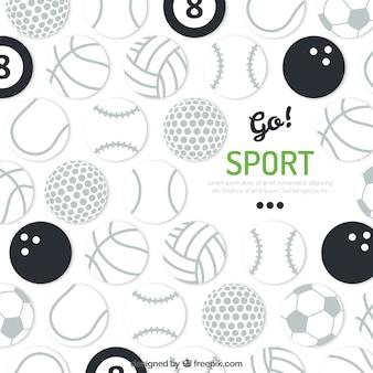 Fondo de balones del deporte