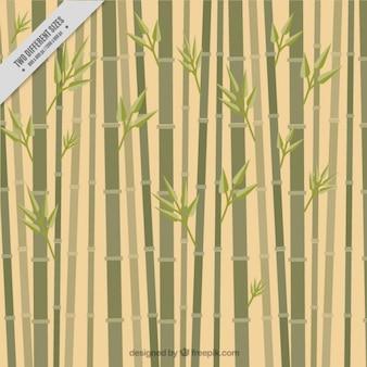 Fondo de bambú, estilo plano