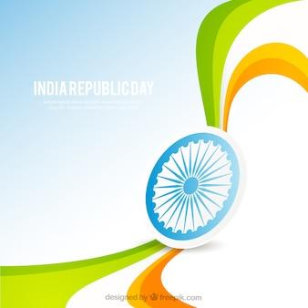 Fondo de bandera ondulada de la bandera de la república India