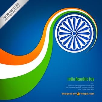 Fondo de bandera ondulada del día de la república India
