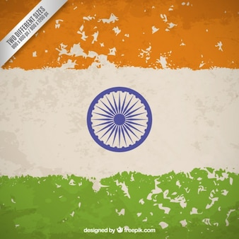 Fondo de bandera sucia de la república india