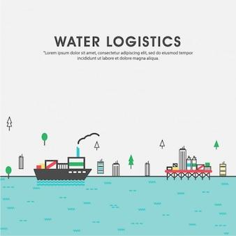 Fondo de barco transportando cargamento