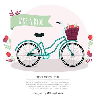Fondo de bici con detalles florales