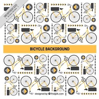 Fondo de bici y formas abstractas